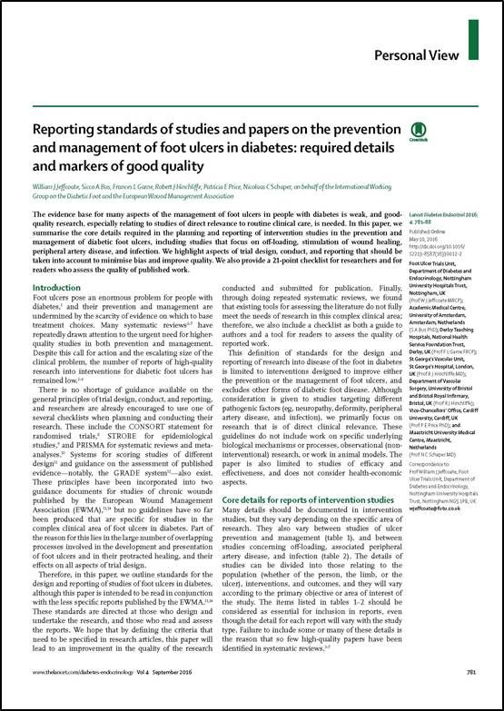 Reporting Standards of Studies and Papers